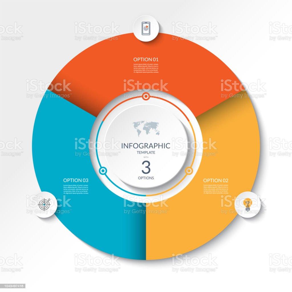 Circular Infographic Flow Chart Process Diagram Circle Or Pie Graph