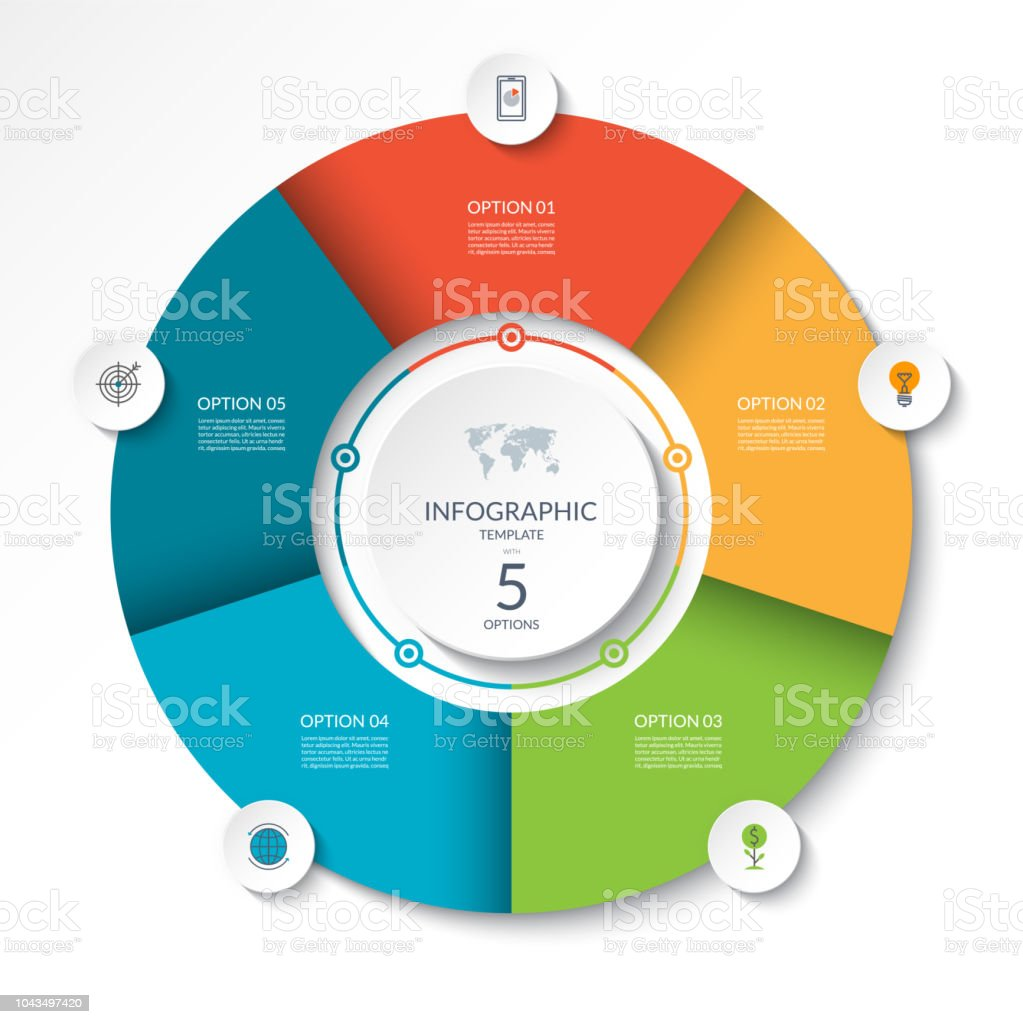 Circular Infographic Flow Chart Process Diagram Circle Or Pie Graph