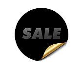 stylish sale sign tag circular sticker design element