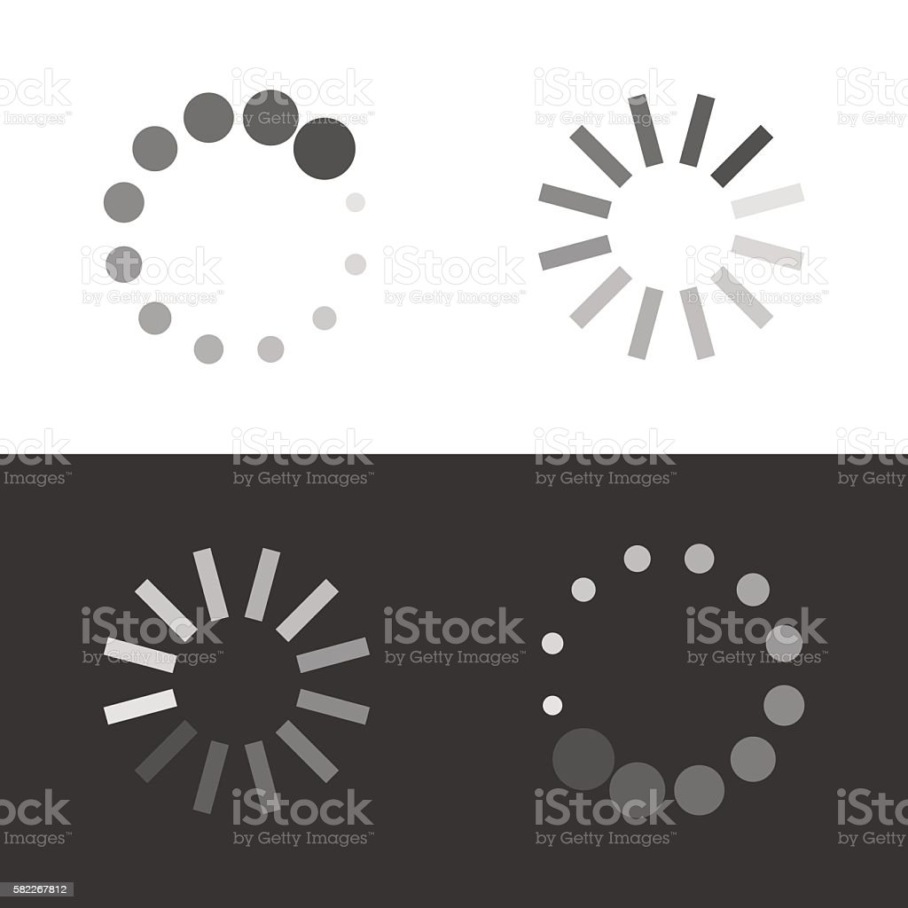 Circular loading sign vector art illustration