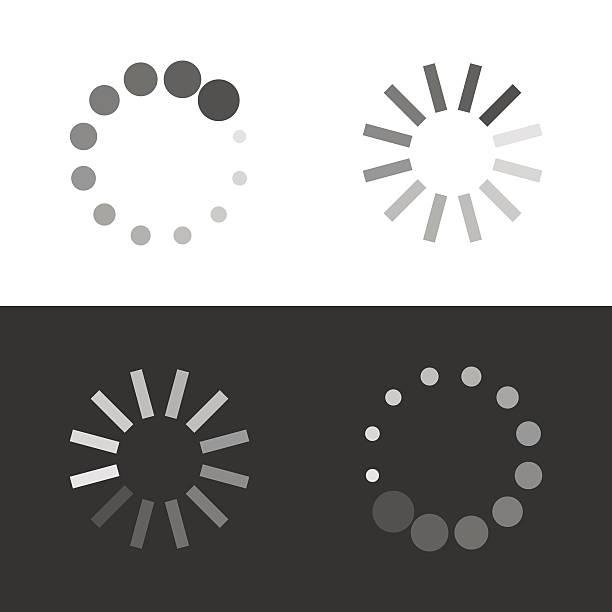 ilustrações de stock, clip art, desenhos animados e ícones de circular loading sign - inteiro