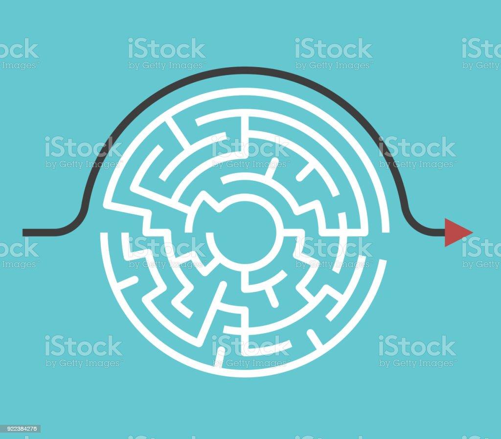 Kreisförmige Labyrinth, Bypass-Strecke – Vektorgrafik