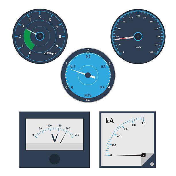 ilustraciones, imágenes clip art, dibujos animados e iconos de stock de medidores circular - amperímetro