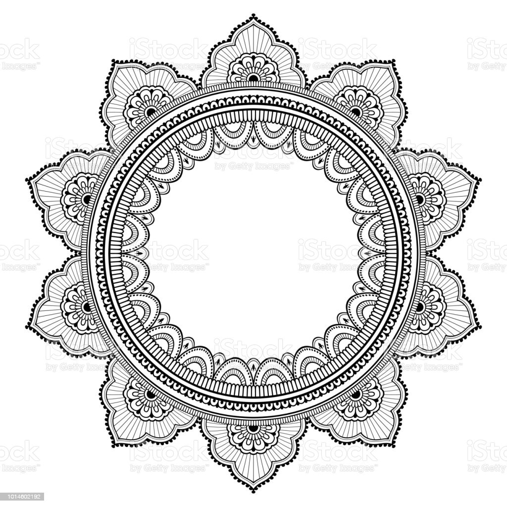 Circular Pattern In Form Of Mandala For Henna Mehndi Tattoo
