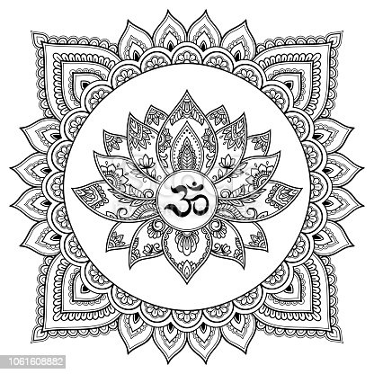 Istock Patrón Circular En Forma De Mandala De Mehndi Tatuaje Henna