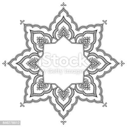 Ilustración de Patrón Circular En Forma De Un Mandala Mandala Del ...