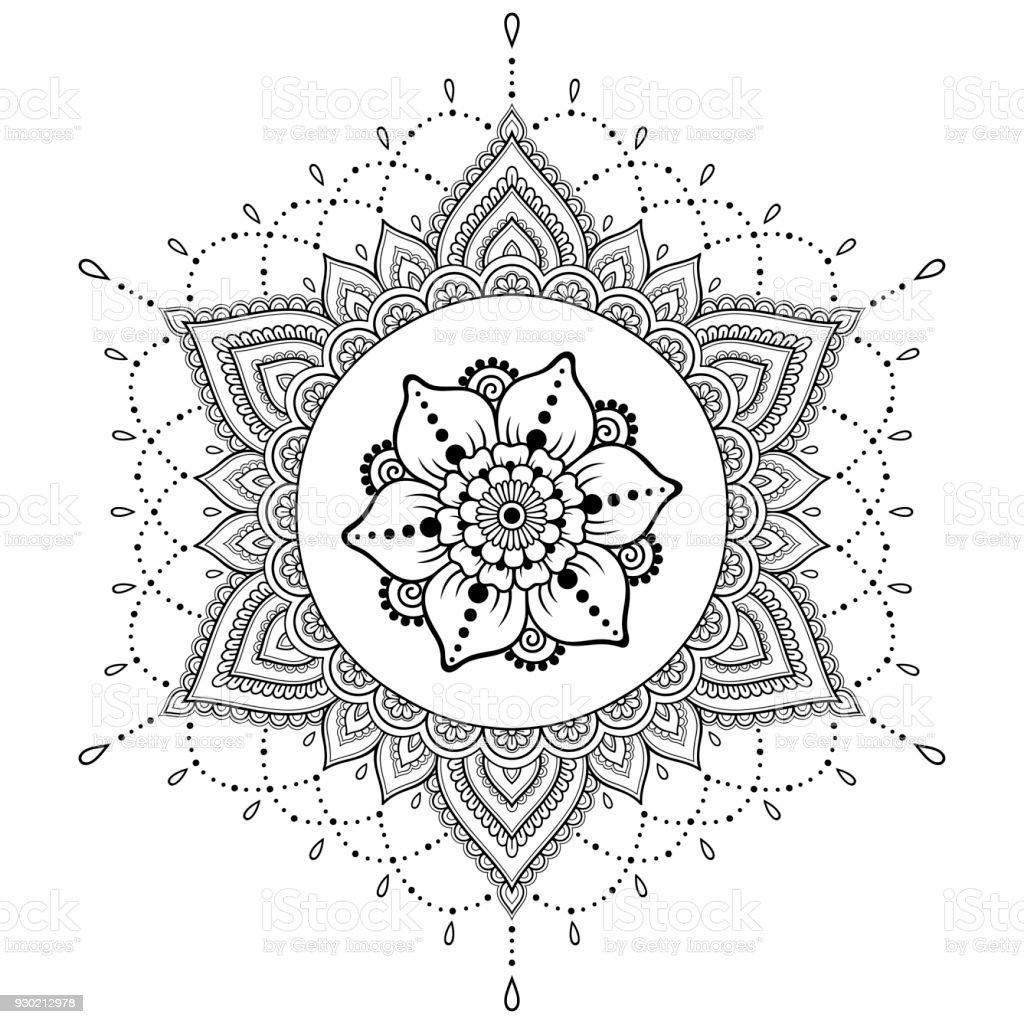 Ilustración De Patrón Circular En Forma De Un Mandala Mandala Del
