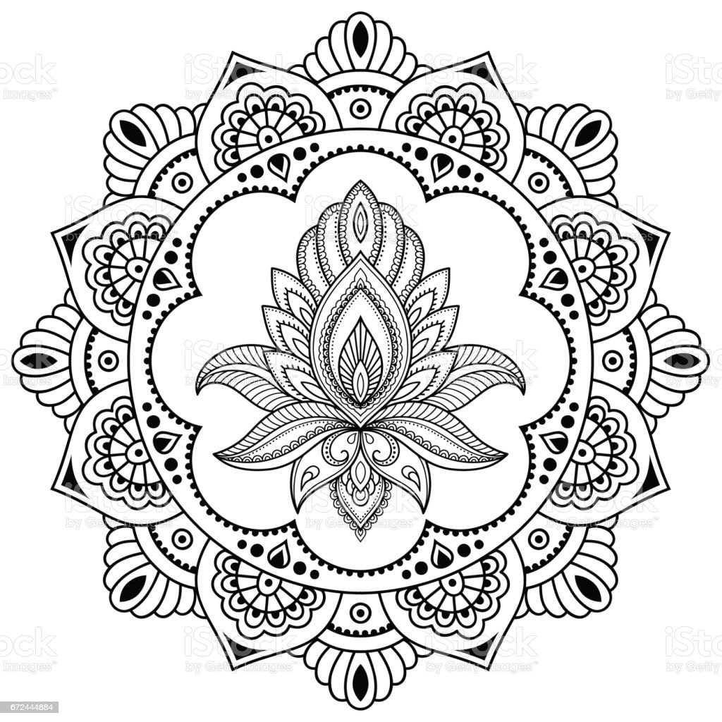 a circular pattern in the form of a mandala henna tattoo. Black Bedroom Furniture Sets. Home Design Ideas