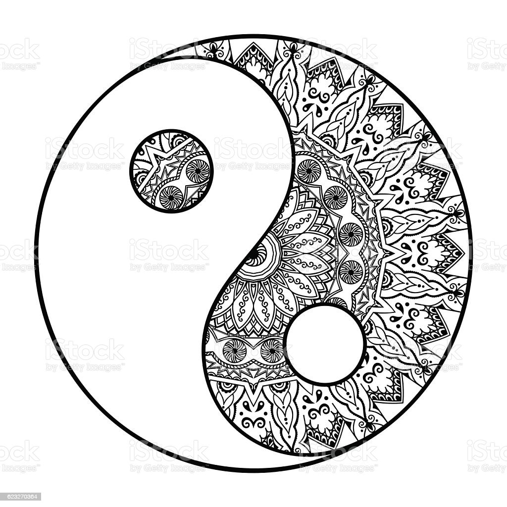 circular pattern in the form of mandala yinyang decorative symbol rh istockphoto com Yin Yang Mandalas to Color Mandala Yin Yang Wallpaper