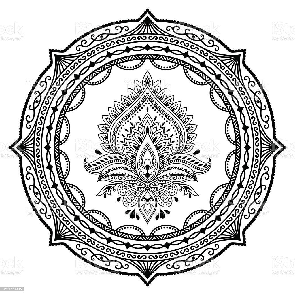 circular pattern mandala henna tattoo flower template lotus mehndi