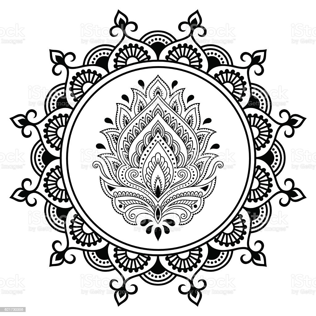 circular pattern mandala henna tattoo flower template lotus mehndi