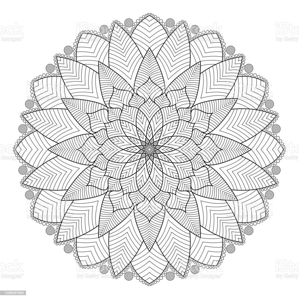 Floral Kreise Blätter Mandala Schmaler Duschvorhang
