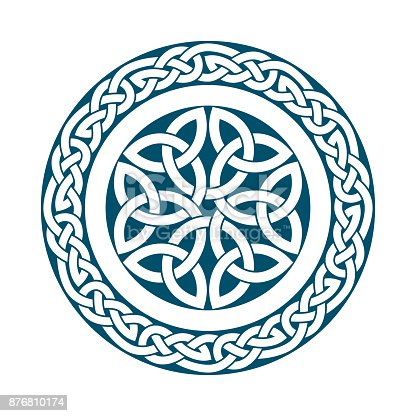 istock Circular pattern of Medieval style(Celtic knot)-04 876810174