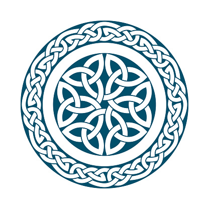 Circular pattern of Medieval style(Celtic knot)-04