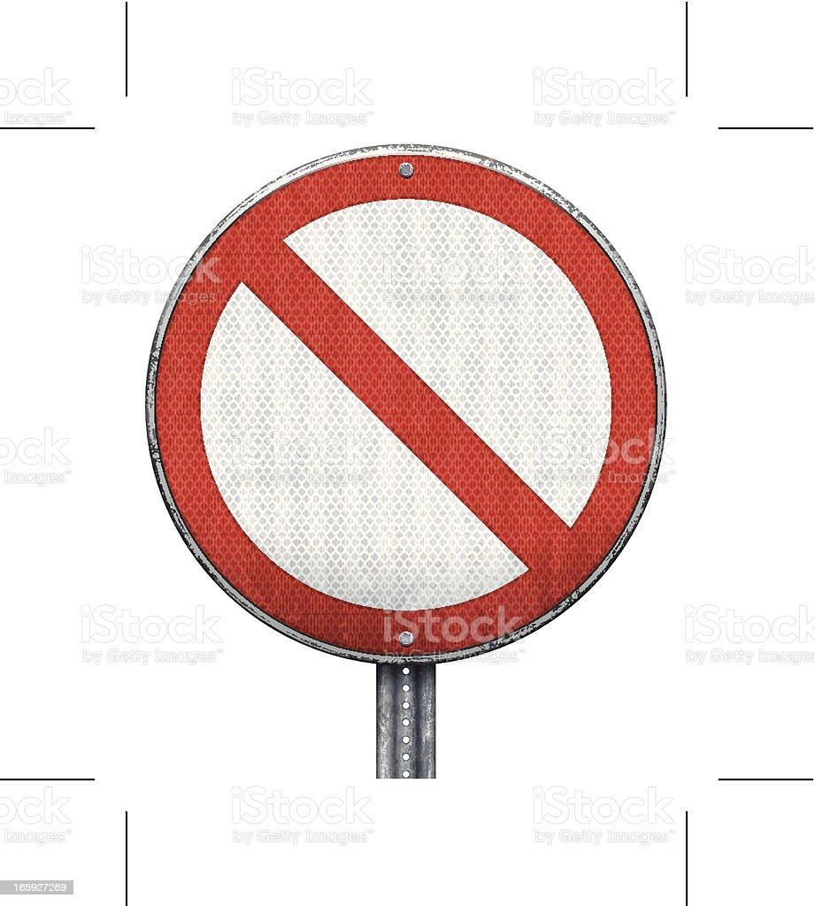 circular prohibition road sign vector art illustration