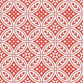 Seamless, circular repeating pattern. Japanese inspired.