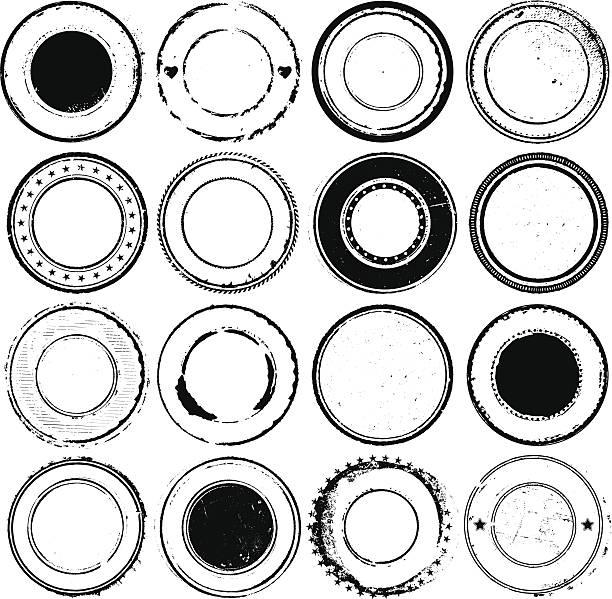 illustrazioni stock, clip art, cartoni animati e icone di tendenza di circolare timbri in gomma - sigillo timbro