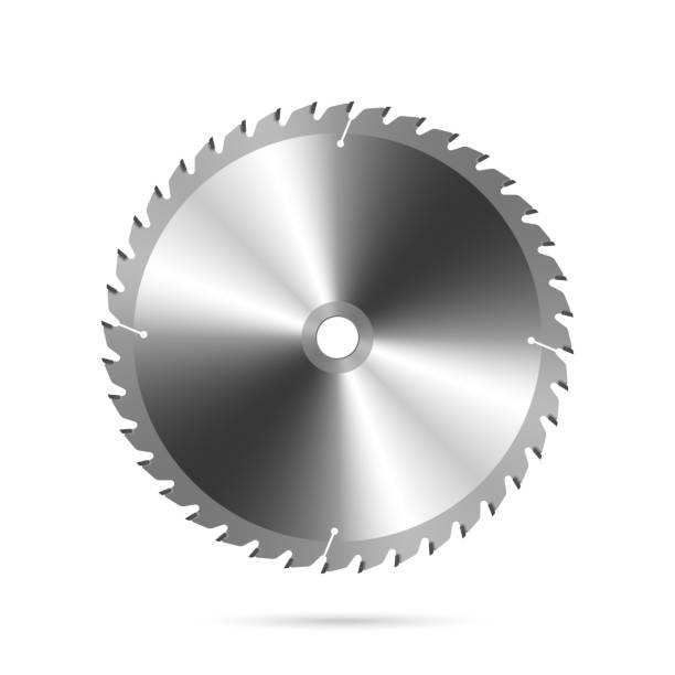 Circular saw blade Vector illustration of a circular saw blade electric saw stock illustrations