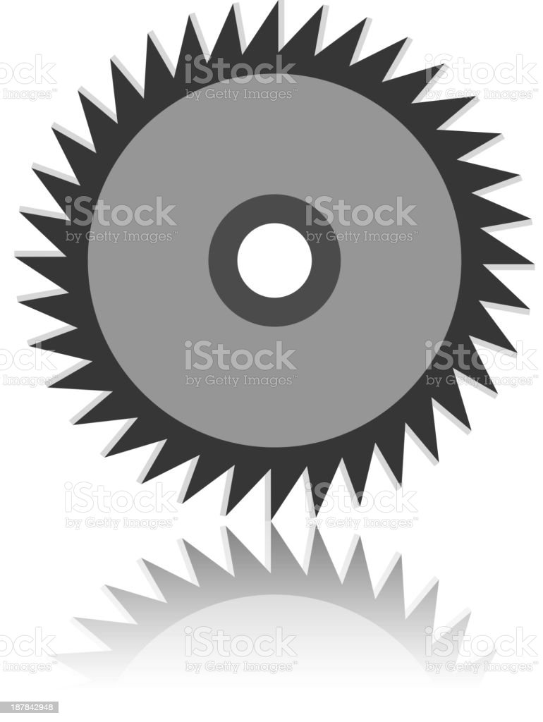 Circular saw blade royalty-free stock vector art