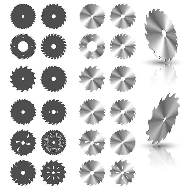 Circular saw blades Circular saw blades in vector blade stock illustrations