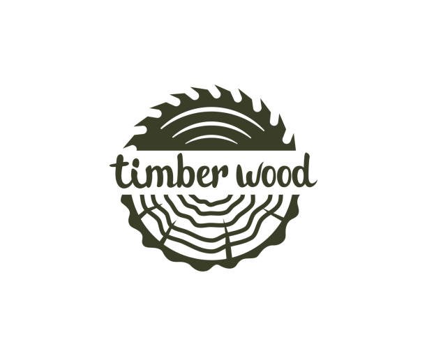 Circular saw wood, timber wood with tree rings, design. Lumber, industrial wood and wood in nature, vector design and illustration Circular saw wood, timber wood with tree rings, design. Lumber, industrial wood and wood in nature, vector design and illustration electric saw stock illustrations