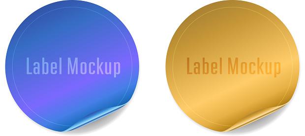 circular shiny sticker