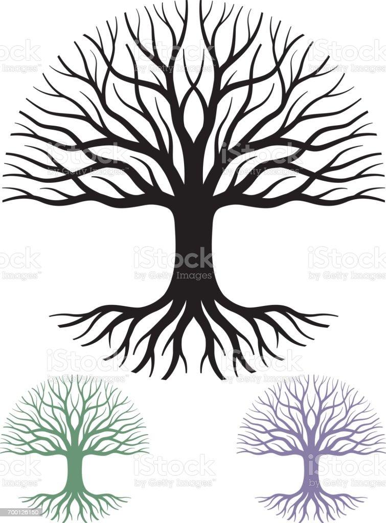 Ilustración de vector de árbol circular - ilustración de arte vectorial