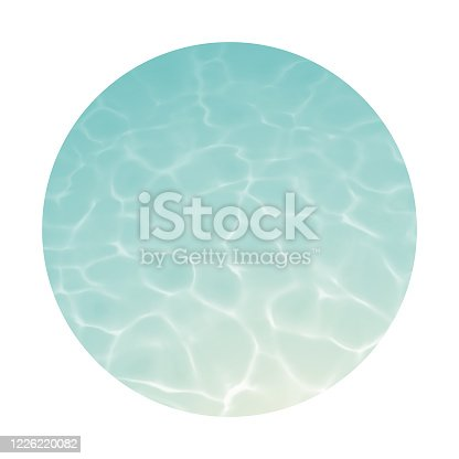 istock Circular Underwater Background with Ripples and Reflections 1226220082
