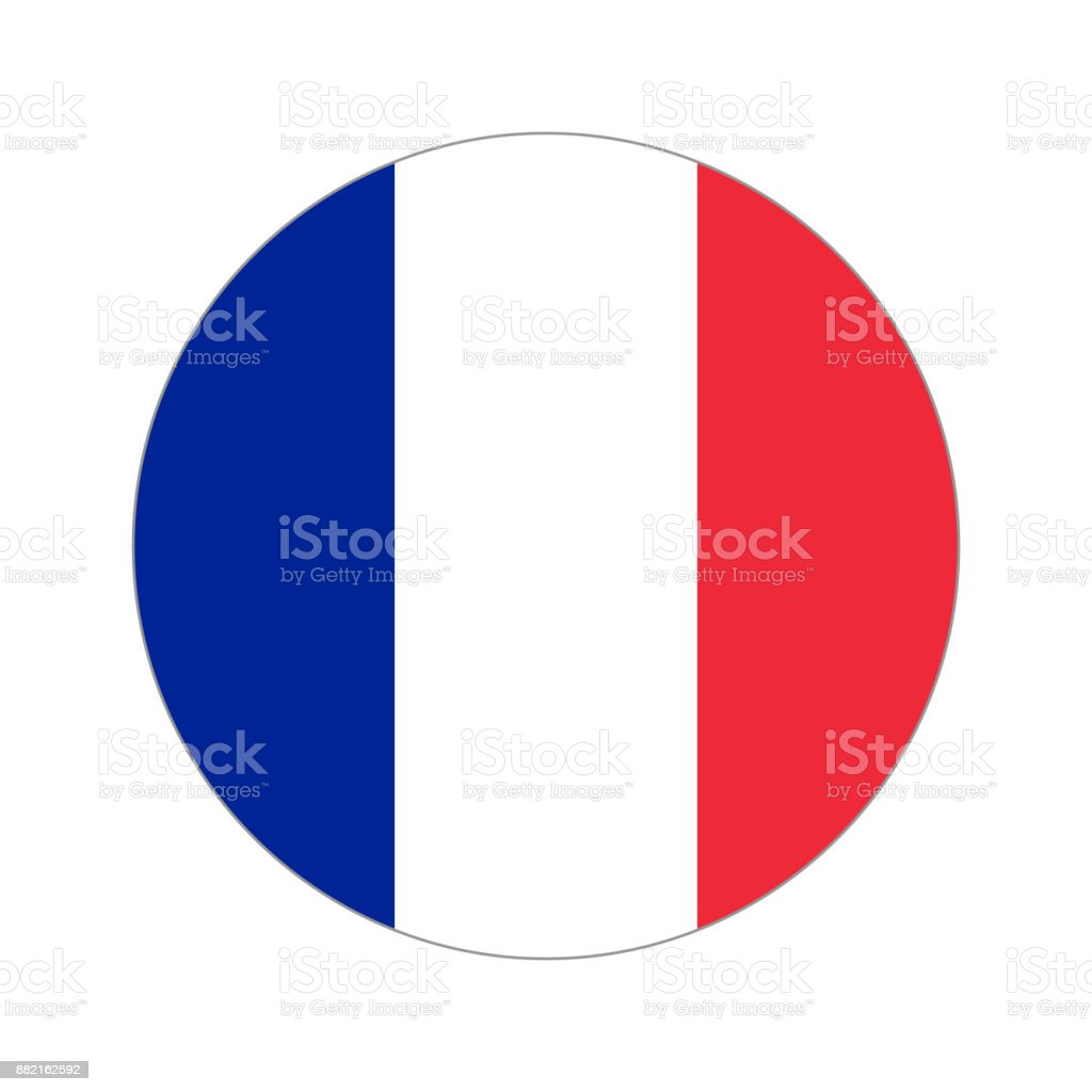 Mundo circular bandera - ilustración de arte vectorial