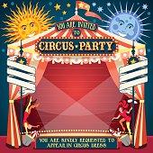 Circus 02 Invitation Vintage 2D