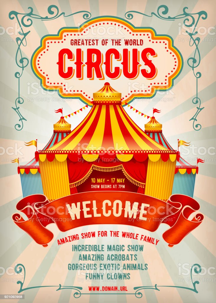 Circus Advertising Poster Stock Illustration - Download ...