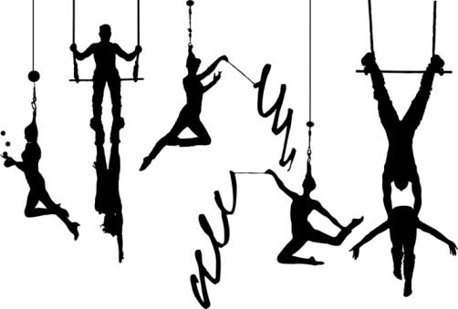 Circus aerial acrobats
