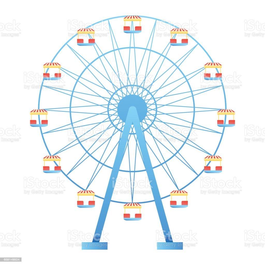 Circus and amusement park vector illustration vector art illustration