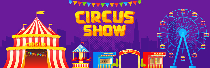 Circus and attractions banner