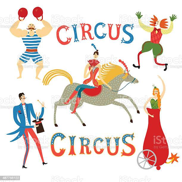 Circus artists cartoon set vector id487755122?b=1&k=6&m=487755122&s=612x612&h=kaj u0mc0tvnvulg82sbovwpmau6ljrodvbgflhnnum=
