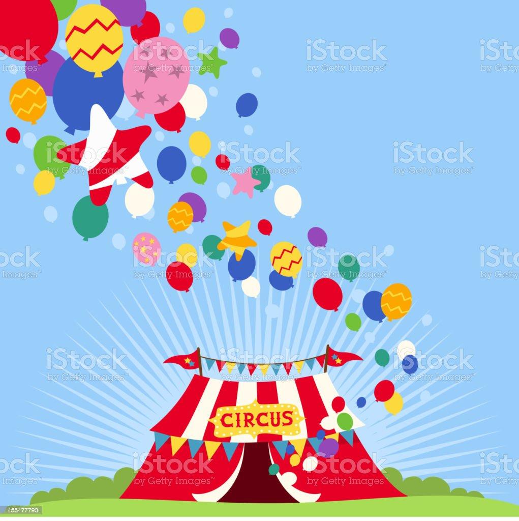 Circus balloons Tent royalty-free stock vector art