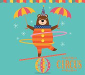 Circus Bear juggling