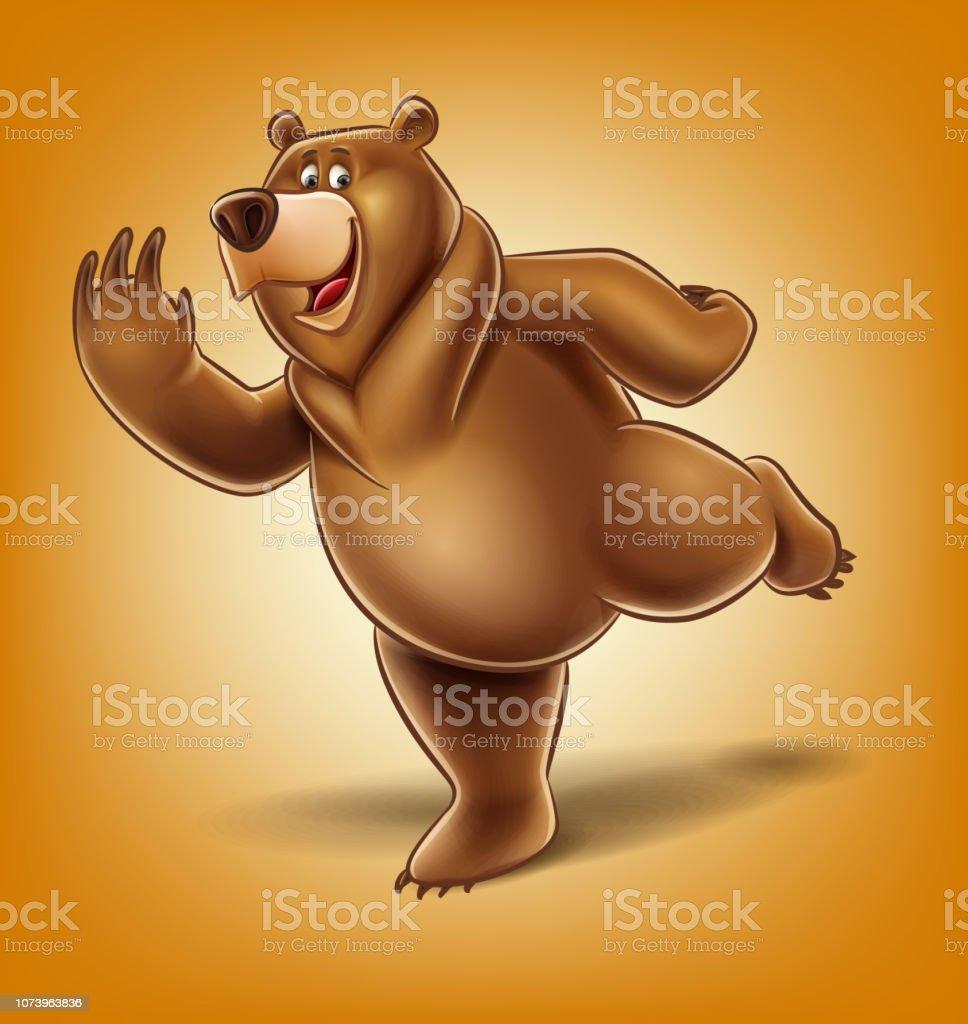 circus bear vector art illustration