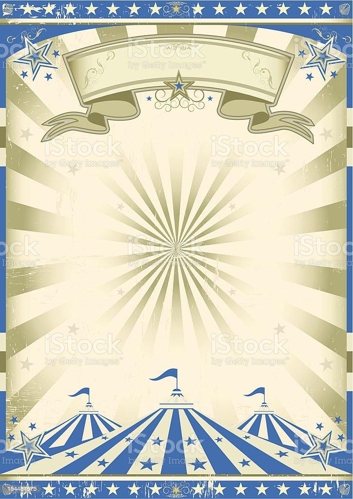 Circus blue vintage vector art illustration
