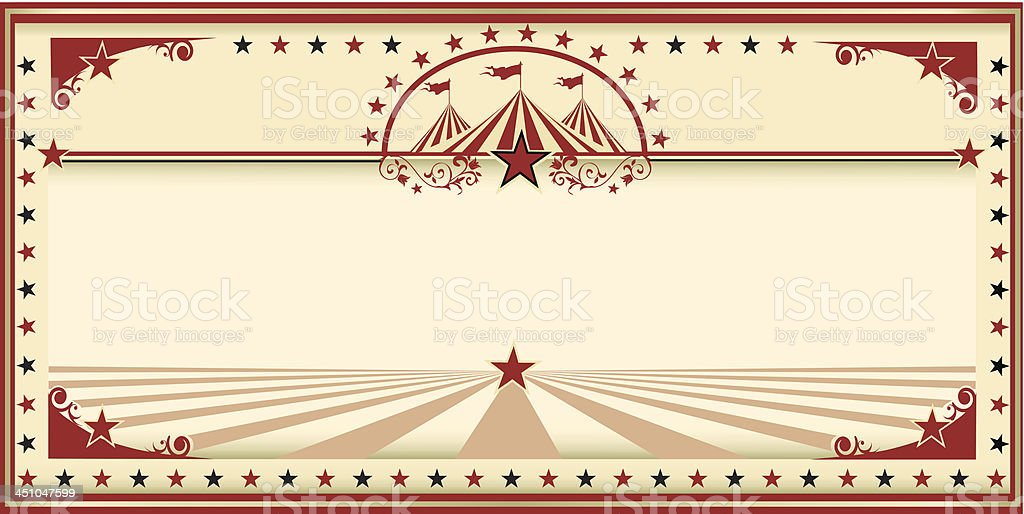 Circus card red vintage royalty-free circus card red vintage stock vector art & more images of amusement park