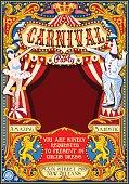 Circus Carnival Theme vintage 2d vector