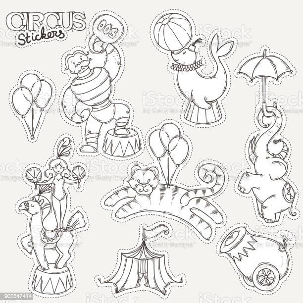 Circus cartoon icons collection with chapiteau tent and trained wild vector id902347414?b=1&k=6&m=902347414&s=612x612&h=bppxe9kvh8rux6ykxc02yrv3fqrqo4s89fk8vzimj9o=