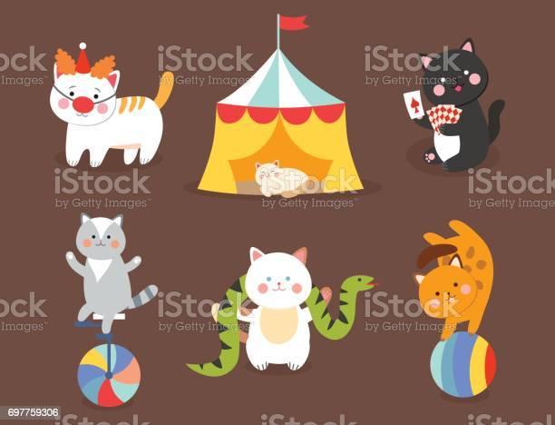 Circus cats vector cheerful illustration for kids with little vector id697759306?b=1&k=6&m=697759306&s=612x612&h=tukktcfmvysri  5qsc ccoz74rlitjcn022quqxcx0=