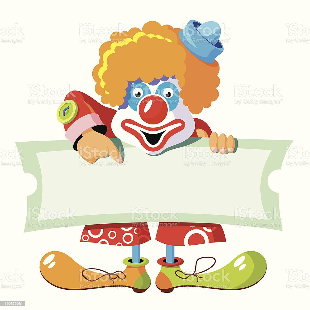 Circus clown royalty-free stock vector art