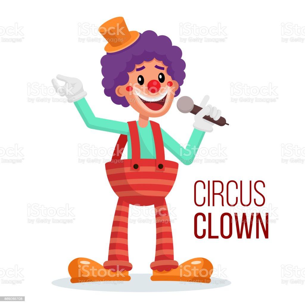 circus clown vector performance for hilarious laughing people rh istockphoto com clown vectoriel clown vectoriel