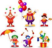 circus clown set.