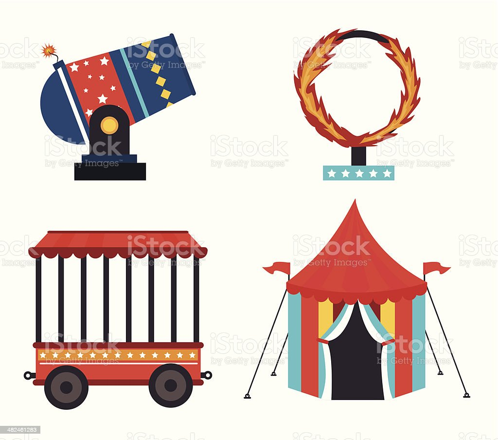 Circus design vector art illustration