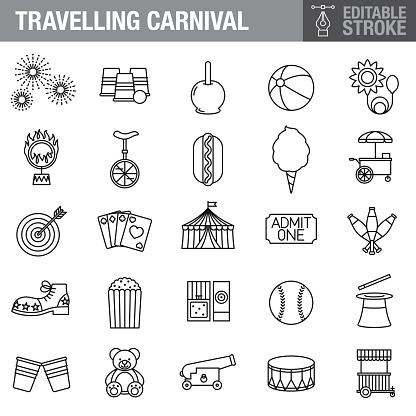 Circus Editable Stroke Icon Set