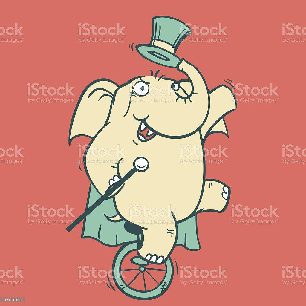 Circus Elephant - 1 royalty-free stock vector art