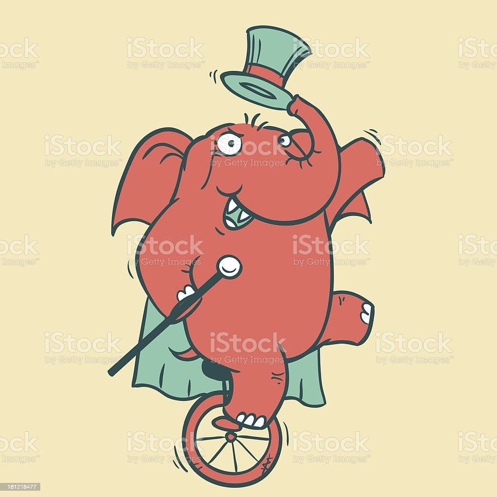 Circus Elephant - 3 royalty-free circus elephant 3 stock vector art & more images of arms raised